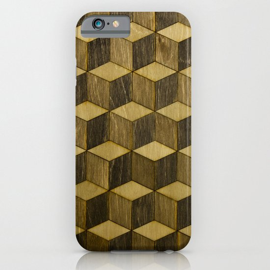 Optical wood cubes iPhone & iPod Case