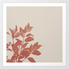 Nature portrait Leaves in red Art Print