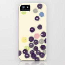 Fluffy yeti family iPhone Case