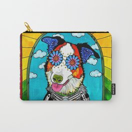 Happy Border Collie Carry-All Pouch