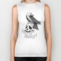 sons of anarchy Biker Tanks featuring Sons of Anarchy  by Christiano Mere