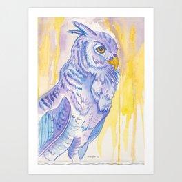 Looking ahead, Owl Art Print