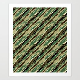 Abstract camouflage pattern. 2 Art Print
