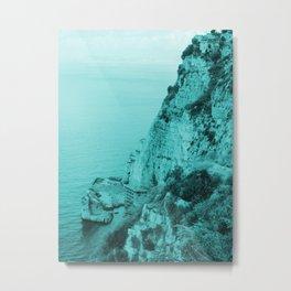 Amalfi Coast in Blue Metal Print