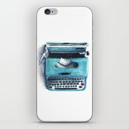 Little Blue Typwriter iPhone Skin