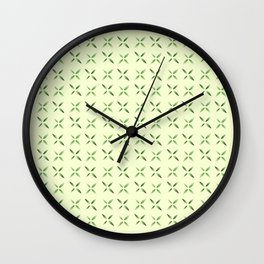 four lines 6 green Wall Clock