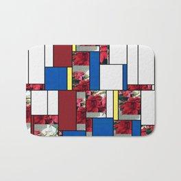 Mixed color Poinsettias 3 Art Rectangles 4 Bath Mat