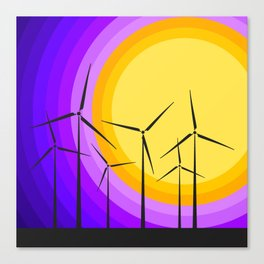 Windmills - Sunset Canvas Print