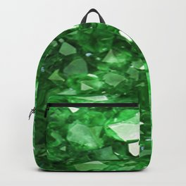 EMERALD GREEN CRYSTALS  MAY BIRTHSTONE Backpack