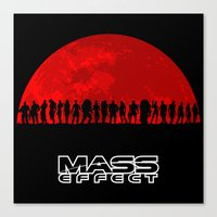 mass effect Canvas Prints featuring Mass Effect by TxzDesign