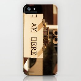 WALL-E    -  I AM HERE iPhone Case