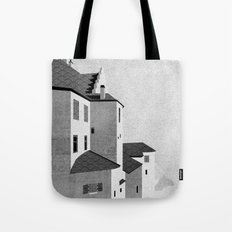 Castle in the Sky | Black & White Tote Bag
