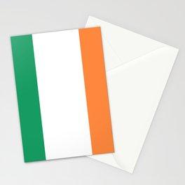 Irish Tricolour Green Orange and White Irish Flag Stationery Cards