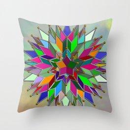 Mandala #106, Star Burst Throw Pillow