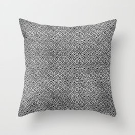 60s - Black abstract pattern on concrete - Mix & Match with Simplicty of life Throw Pillow