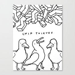 CHIP THIEVES Canvas Print