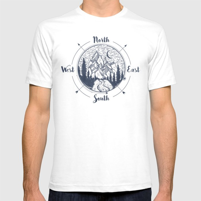 Compass Mountain Road Trip T-shirt