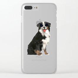 Bernese Mountain Dog In Aviator Dog Lover Clear iPhone Case