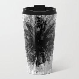 Black and White Tie Dye // Painted // Multi Media Travel Mug