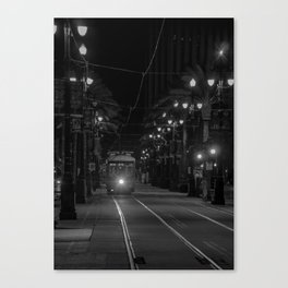 A Night in the Life of a Streetcar Canvas Print