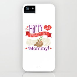 Happy Mothers Day Message Sloth Mom Grandma Gift iPhone Case