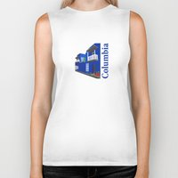 colombia Biker Tanks featuring Colombia  by Design4u Studio