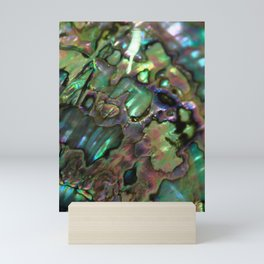 Oil Slick Abalone Mother Of Pearl Mini Art Print