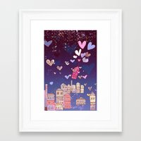 happiness Framed Art Prints featuring happiness by Bunny Noir