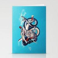 illuminati Stationery Cards featuring Heart of Illuminati by Eugenia Loli