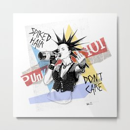 Punk 101: Spiked Hair Don't Care Metal Print