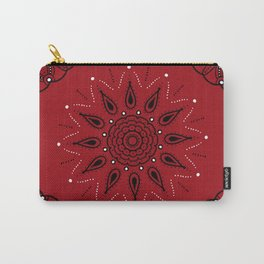 Central Mandala Red Carry-All Pouch