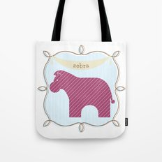 Fun at the Zoo: Zebra Tote Bag