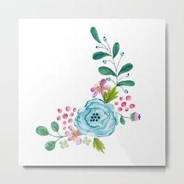 Smiley :) Flowers Metal Print
