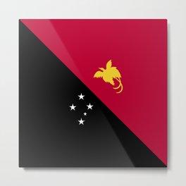 Papua New Guinea flag emblem Metal Print