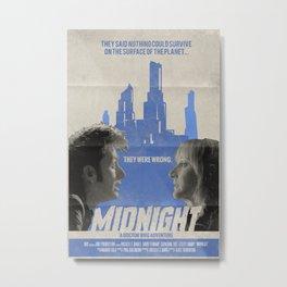 "Doctor Who ""Midnight"" Retro Vintage Movie Poster Metal Print"
