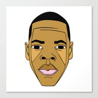 jay z Canvas Prints featuring Jay-Z by Λdd1x7