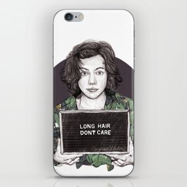 Long Hair Don't Care iPhone Skin