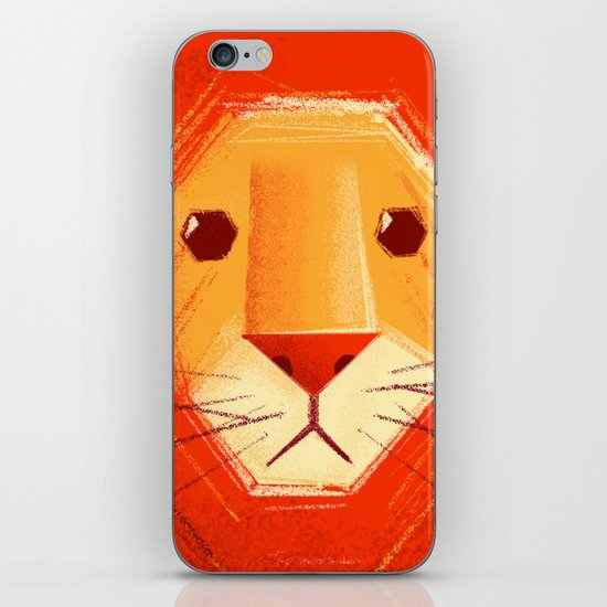 Sad lion iPhone & iPod Skin