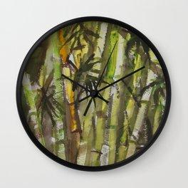 Lucky Bamboo Wall Clock