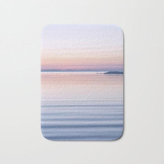 Pastel ripples sea and sky Bath Mat
