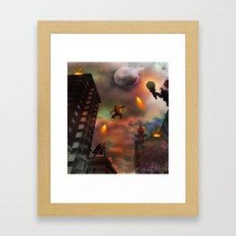 Super Hero Showdown Framed Art Print