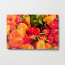 Kitchen Still Life: Hot Peppers Metal Print