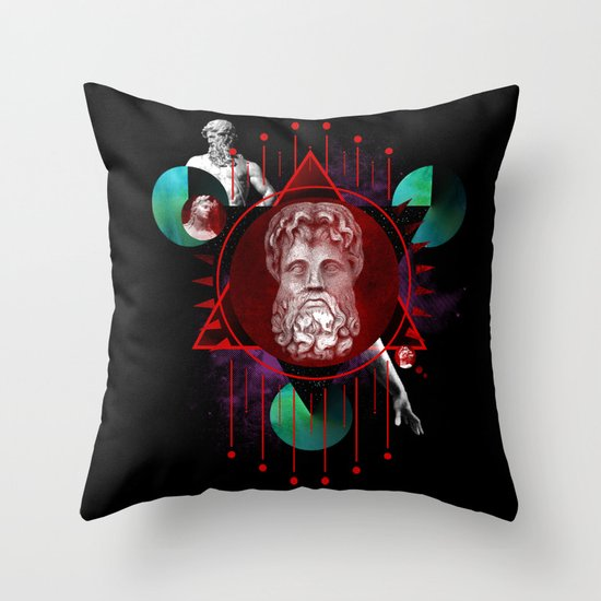 Geometric Gods Throw Pillow