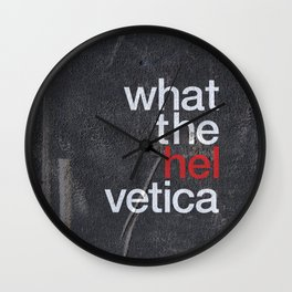 Hel Vetica Wall Clock