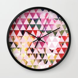 Floral Water Color Wall Clock