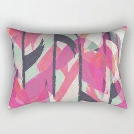 Abstract watercolor pink black teal aztec Rectangular Pillow
