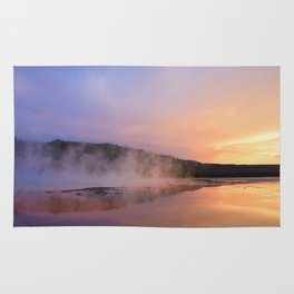 sunset at grand prismatic Rug