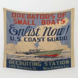 Vintage poster - Coast Guard Wall Tapestry