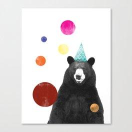 Circus Bear Canvas Print