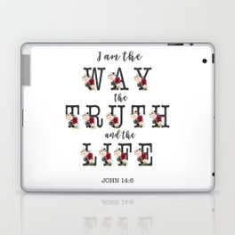 I am the Way the Truth and the Life Modern Floral Typography Laptop & iPad Skin